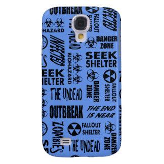 Zombie, Outbreak, Undead Black & Cornflower Blue Galaxy S4 Case