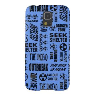 Zombie, Outbreak, Undead Black & Cornflower Blue Galaxy S5 Case
