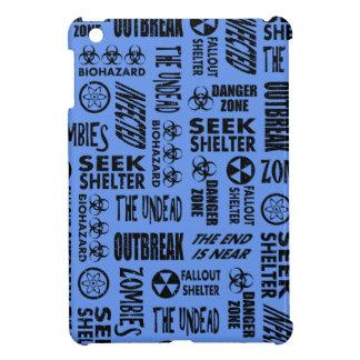 Zombie, Outbreak, Undead Black & Cornflower Blue iPad Mini Cover