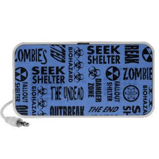 Zombie Outbreak Undead Black Cornflower Blue Mp3 Speaker