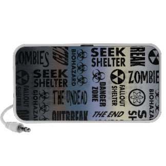 Zombie Outbreak Undead Black Metallic Gradient Portable Speakers
