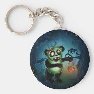 Zombie Panda Halloween Forest Key Chain