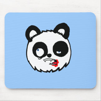Zombie Panda Head Mouse Pads