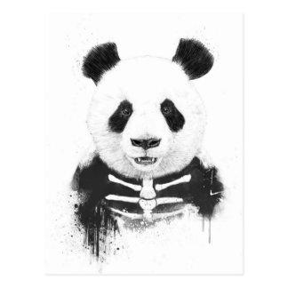Zombie panda postcard