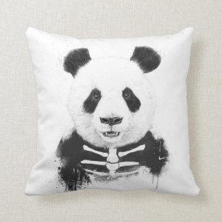 Zombie panda throw pillow