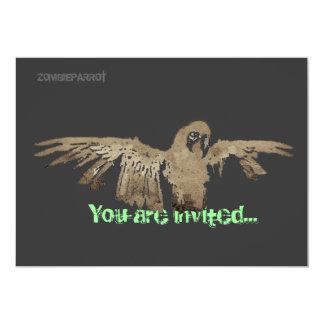 Zombie Parrot Invitation Card