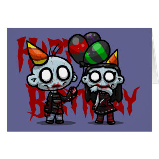 Zombie Party Greeting Card
