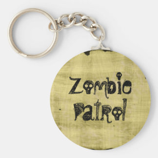 Zombie Patrol Basic Round Button Key Ring