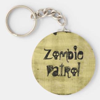 Zombie Patrol Basic Round Button Key Ring