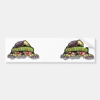 Zombie Peek-A-Boo Bumper Stickers