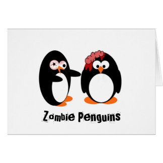 Zombie Penguin Greeting Card