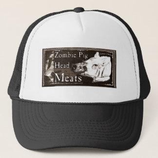 Zombie Pig Head Meats -Since 1968 Brown Trucker Hat