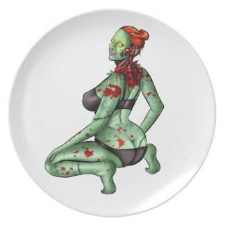 Zombie Pin-Up Plate