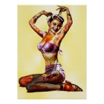 Zombie Pin Up Poster