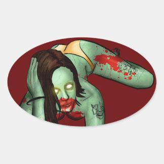 Zombie Pin-Up Sticker