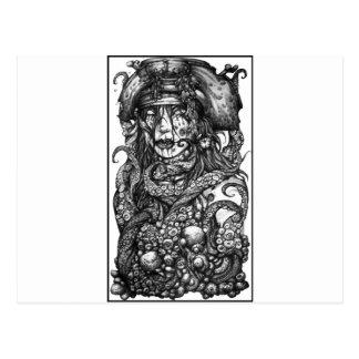 Zombie Pirate Girl Postcard