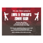 Zombie plague invasion red splatter gore Halloween Personalized Announcement