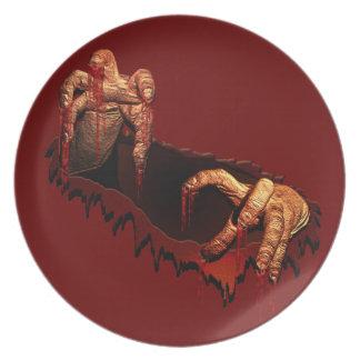 Zombie Plates Gory Halloween Zombie Plates