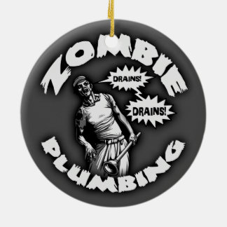 Zombie Plumbing Christmas Ornament