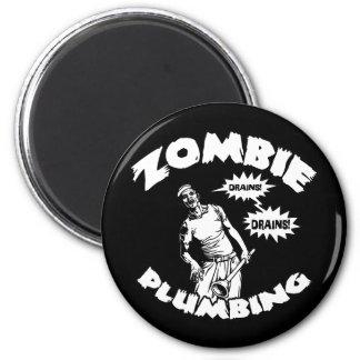Zombie Plumbing Fridge Magnets