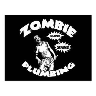 Zombie Plumbing Postcard