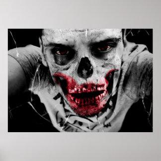Zombie portrait artistic illustration poster