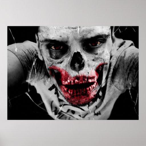 Zombie portrait artistic illustration print