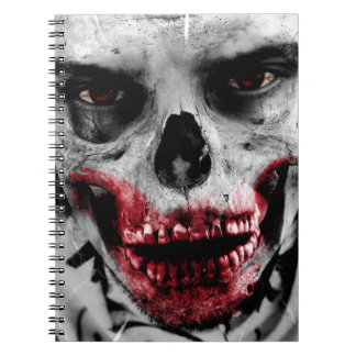 Zombie portrait artistic illustration spiral notebook
