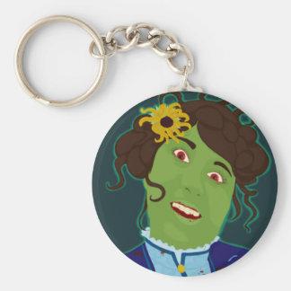 Zombie Portrait Keychain