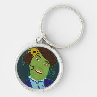 Zombie Portrait Premium Keychain