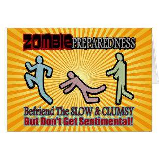 Zombie Preparedness Befriend Slow Design Greeting Card