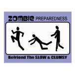Zombie Preparedness Befriend Slow Design Post Card