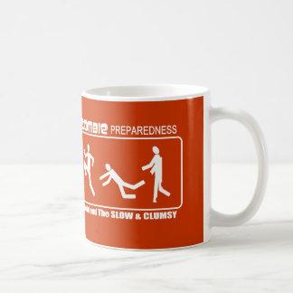 Zombie Preparedness Befriend Slow WHITE Design Coffee Mug