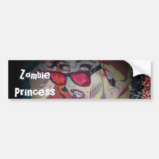 Zombie Princess Bumper Sticker