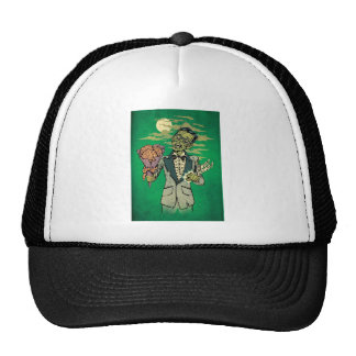 zombie prom date with brain roses cap