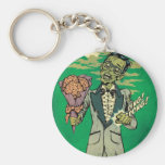 zombie prom date with brain roses keychains