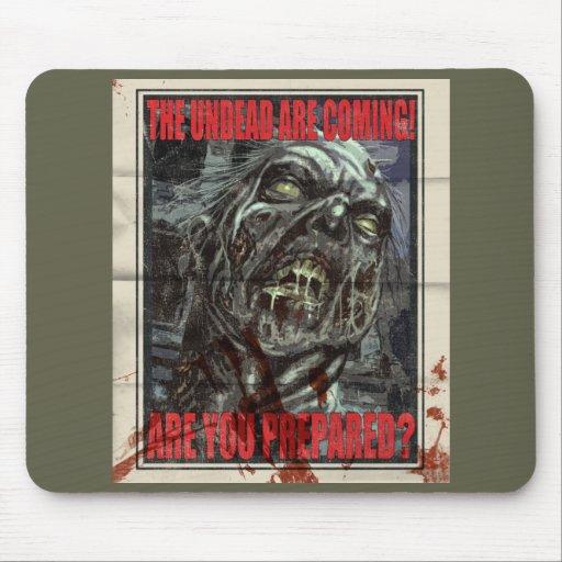 Zombie Propaganda Poster Mouse Pad