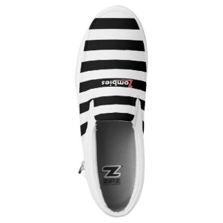 Zombie Punky White Stripe Low Tops By BoardZombies Slip-On Shoes