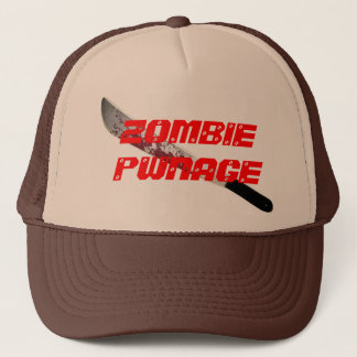 ZOMBIE PWNAGE TRUCKER HAT