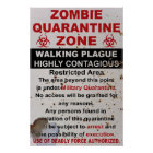 Zombie Quarantine Military Sign