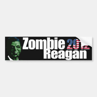 Zombie Reagan Bumper Sticker