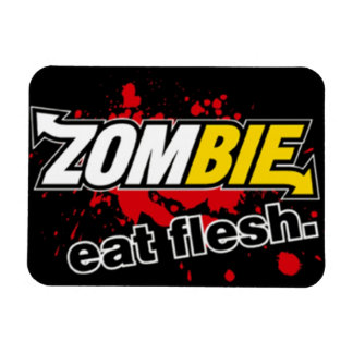 zombie rectangular photo magnet
