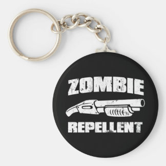 zombie repellent - the shotgun basic round button key ring