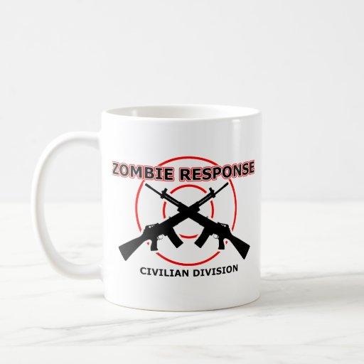 Zombie Response Funny Mug Humour