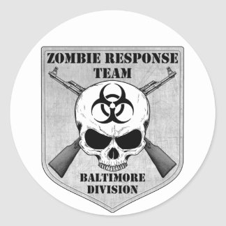 Zombie Response Team: Baltimore Division Classic Round Sticker