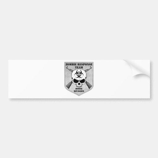 Zombie Response Team: Boise Division Bumper Stickers