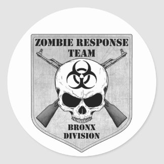 Zombie Response Team: Bronx Division Classic Round Sticker