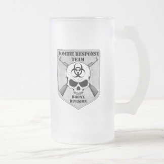 Zombie Response Team: Bronx Division Frosted Glass Beer Mug