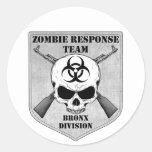 Zombie Response Team: Bronx Division Round Sticker