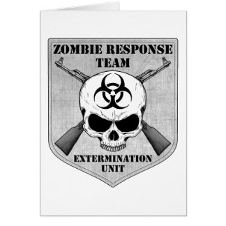 Zombie Response Team Card